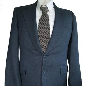 Vintage Blue Hickey Freeman Blazer Suit Jacket 38R